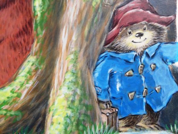 Rory McCann hand painted mural wildlife art school painting (100)