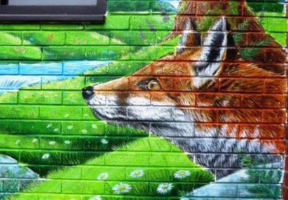 Rory McCann hand painted mural wildlife art school painting (103)
