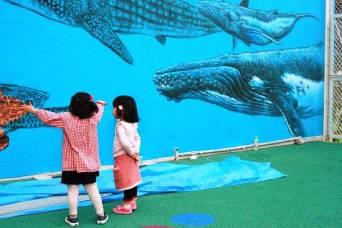 Rory McCann hand painted mural wildlife art school painting (104)