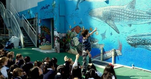 Rory McCann hand painted mural wildlife art school painting (107)