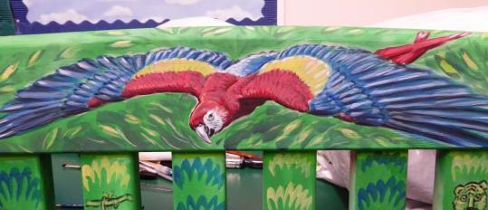 Rory McCann hand painted mural wildlife art school painting (109)