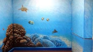 Rory McCann hand painted mural wildlife art school painting (113)