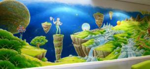 Rory McCann hand painted mural wildlife art school painting (118)