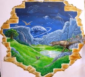 Rory McCann mural hand painted amazing high quality wildlife schools workshops inspiring artwork painting