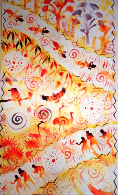 Rory McCann hand painted mural wildlife art school painting (16)