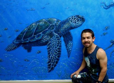 Rory McCann hand painted mural wildlife art school painting (18)