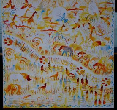 Rory McCann hand painted mural wildlife art school painting (21)