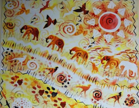 Rory McCann hand painted mural wildlife art school painting (24)
