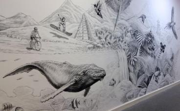 Rory McCann hand painted mural wildlife art school painting (28)