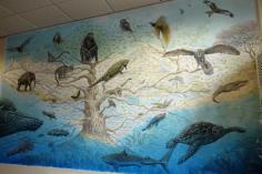 Rory McCann hand painted mural wildlife art school painting (35)