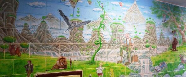 Rory McCann hand painted mural wildlife art school painting (40)