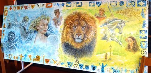 Rory McCann hand painted mural wildlife art school painting (41)