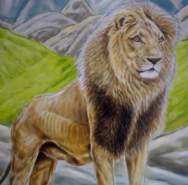 Rory McCann hand painted mural wildlife art school painting (52)
