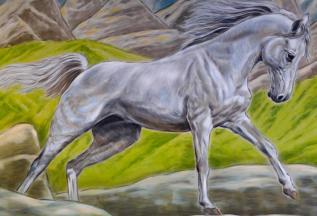 Rory McCann hand painted mural wildlife art school painting (53)