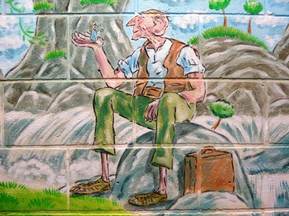 Rory McCann hand painted mural wildlife art school painting (54)
