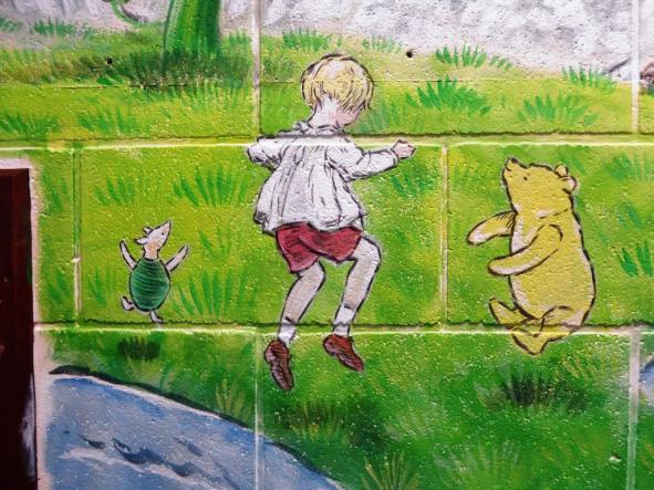 Rory McCann hand painted mural wildlife art school painting (55)