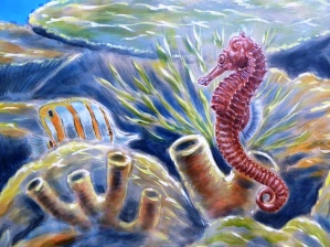 Rory McCann hand painted mural wildlife art school painting (68)
