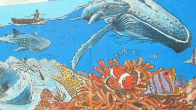 Rory McCann hand painted mural wildlife art school painting (7)