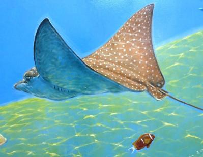 Rory McCann hand painted mural wildlife art school painting (71)