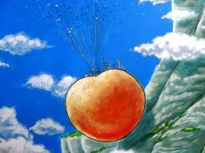 Rory McCann hand painted mural wildlife art school painting (74)