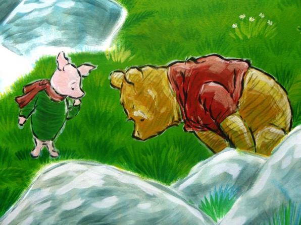 Rory McCann hand painted mural wildlife art school painting (79)