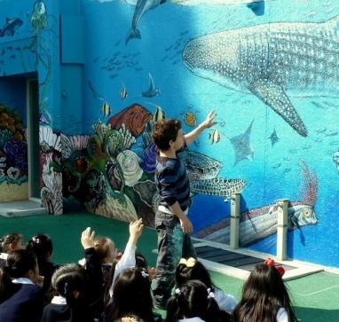 Rory McCann hand painted mural wildlife art school painting (8)