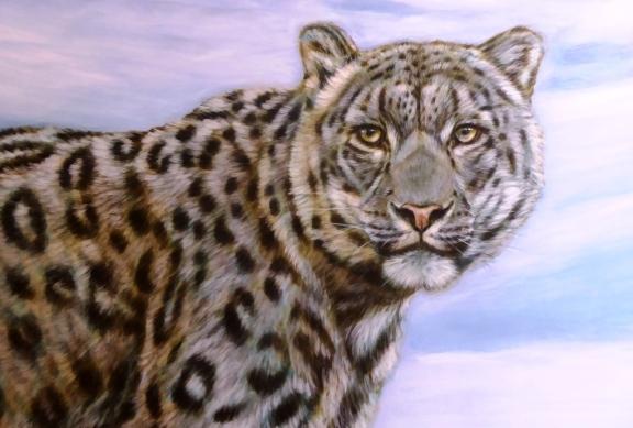 Rory McCann hand painted mural wildlife art school painting (83)