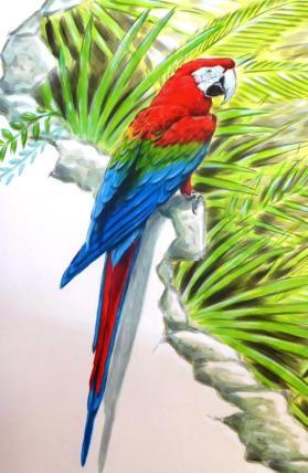 Rory McCann hand painted mural wildlife art school painting (84)