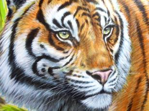 Rory McCann hand painted mural wildlife art school painting (87)