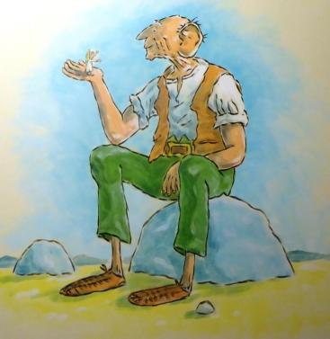 Rory McCann hand painted mural wildlife art school painting (88)