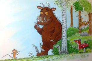 Rory McCann hand painted mural wildlife art school painting (89)