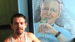 Rory McCann hand painted mural wildlife art school painting (9)
