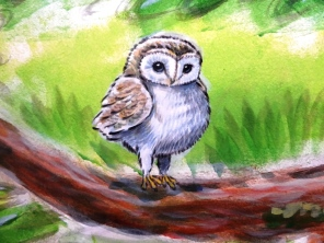 Rory McCann hand painted mural wildlife art school painting (99)
